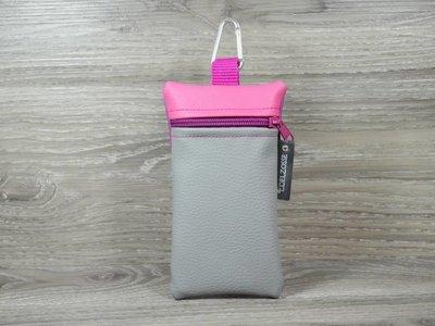 Edelzosse Handytasche Hellgrau- Pink