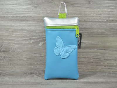 Edelzosse Handytasche  Schmetterling Blau