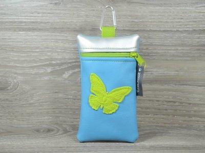 Edelzosse Handytasche  Schmetterling Grün