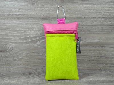 Edelzosse Handytasche Apfelgrün- Pink