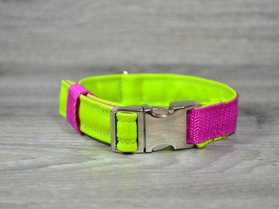 Edelzosse Halsband Apfelgrün-Pink