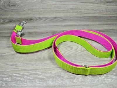 Edelzosse Hundeleine Hellgrün- Pink