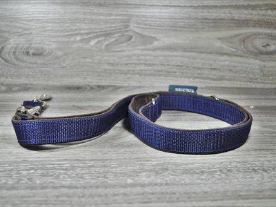 Edelzosse Hundeleine Alcantara-Blau