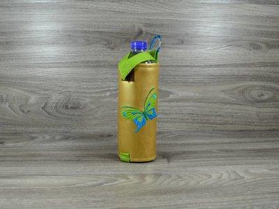 Edelzosse Flaschenhalter Schmetterling Bestickt  *Einzelstück*