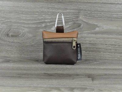 Edelzosse Mini-Tasche Dunkelbraun-Hellbraun