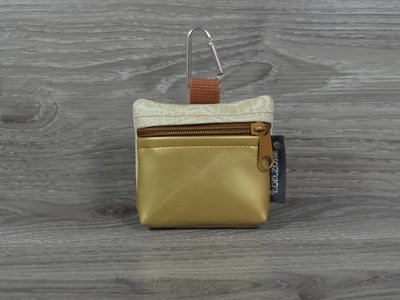 Edelzosse Mini-Tasche Gold-Kroko Beige