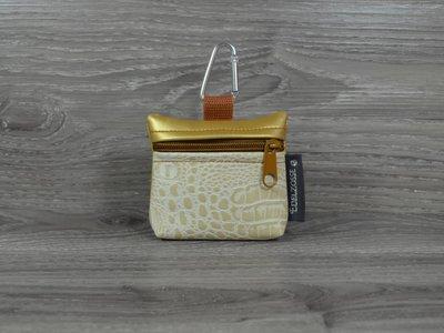Edelzosse Mini-Tasche Kroko Beige- Gold