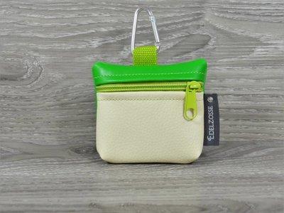 Edelzosse Mini-Tasche Grasgrün- Creme