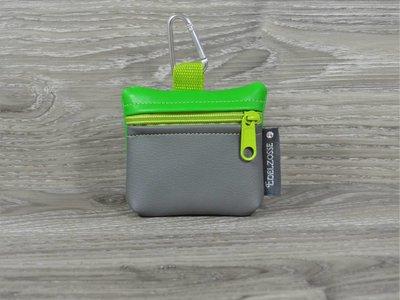 Edelzosse Mini-Tasche Grasgrün- Grau