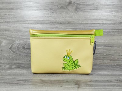 Edelzosse Makeup- Tasche Froschkönig