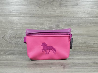 Edelzosse Bauchtasche Tölter Pink-Magenta -Bestickt