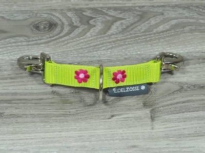 Edelzosse Longierbrille Grün- Blume Bestickt