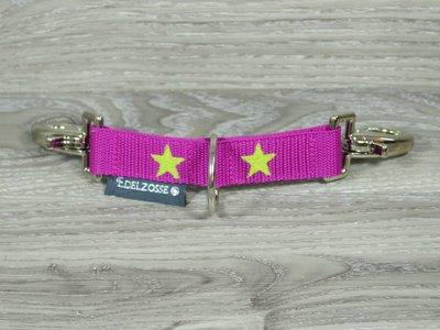 Edelzosse Longierbrille Pink-Stern  Bestickt