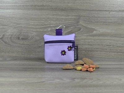 Edelzosse Mini-Tasche Flieder-Lila-bestickt
