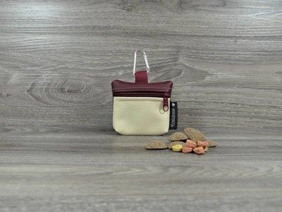 Edelzosse Mini-Tasche Beige -Bordeaux