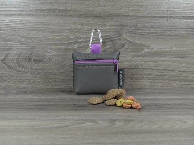 Edelzosse Mini-Tasche Grau-Flieder