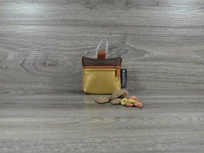 Edelzosse Mini-Tasche Gold- Braun