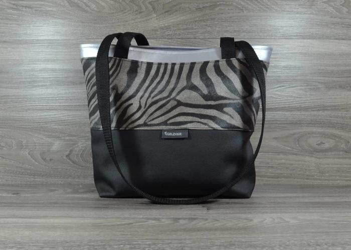 ae0f7559dc669 Edelzosse Shopper- Handtasche-Schwarz-Zebra ...