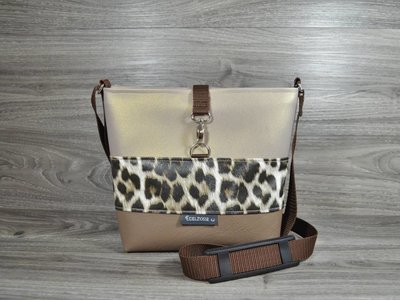 Edelzosse Crossbody Classic Braun-Leopard