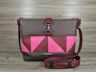 Edelzosse Crossbody Premium Patch Braun-Pink