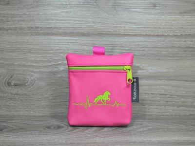 Edelzosse Leckerlitasche Heartbeat Pink Bestickt