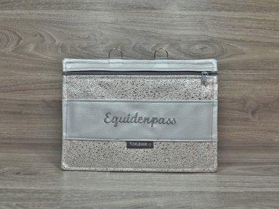 Edelzosse Equidenpasstasche Stone Silber