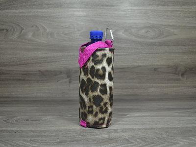 Edelzosse Flaschenhalter Schneeleopard Pink