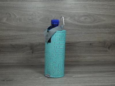 Edelzosse Flaschenhalter Kroko Türkis