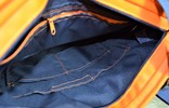 Edelzosse Shopper- Handtasche-Grafik-Blau-Orange