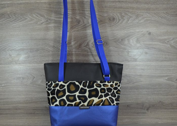 Edelzosse Shopper-Metallic Blau