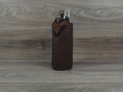 Edelzosse Flaschenhalter Braun inkl. Flasche