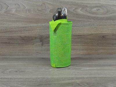 Edelzosse Flaschenhalter Kroko Grün inkl. Flasche