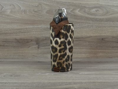 Edelzosse Flaschenhalter leopard inkl. Flasche