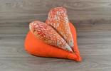 Edelzosse Lesekissen- Herzkissen - Koralle-Orange