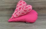 Edelzosse Lesekissen-Herzkissen-Hot-Pink