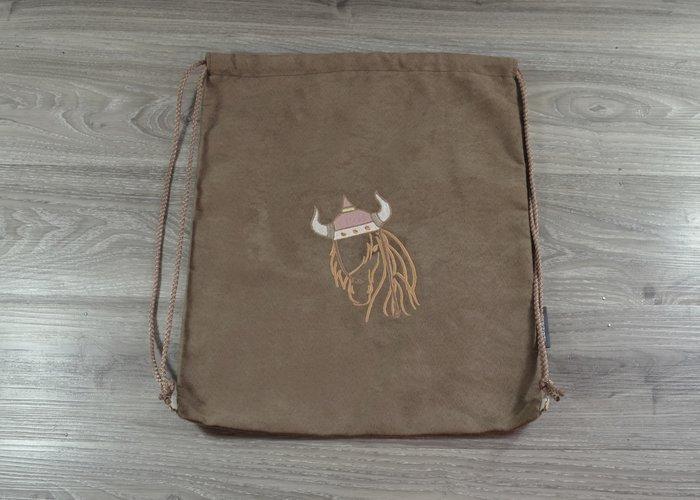 Edelzosse Helmbeutel-Rucksack-Einzelstück