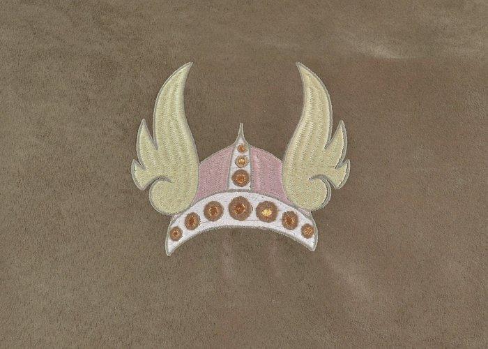 Edelzosse Helmbeutel-Rucksack-Flügelhelm Einzelstück