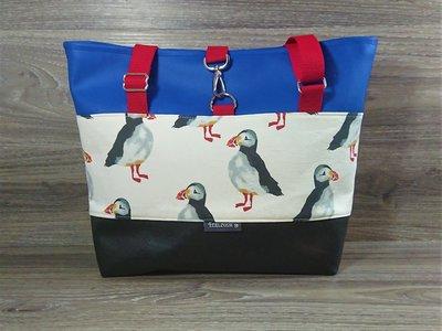 Edelzosse Shopper- Handtasche- Puffin