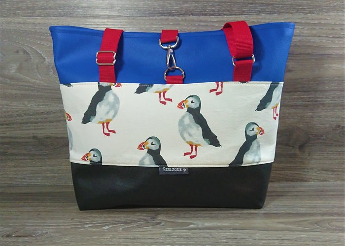 Edelzosse Shopper- Handtasche-Puffin