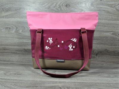 Edelzosse Shopper- Handtasche-Beere Lack