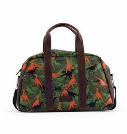 Zebra Weekendbag Boys-Wild Dinos Green
