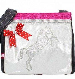 Zebra Canvas Kidsbag- Horse silver
