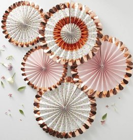 Rosegold folierte Blumenfaecher Dekoration