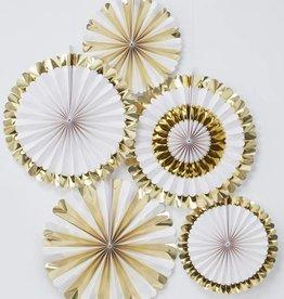 Ginger Ray Goldfolierte Blumenfaecher Dekoration