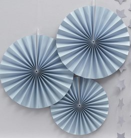 Blaue Blumenfächer
