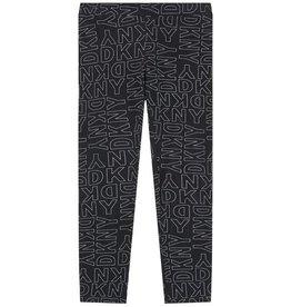 DKNY DKNY Leggings schwarz mit weißem Print