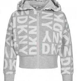 DKNY DKNY kurze Kapuzenweste mit Print