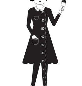 Design Letters Design Letters Measurewoman Messlatte Wandsticker weiblich