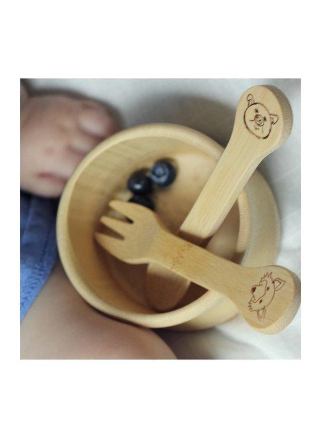 bambu Kid's Fork & Spoon (18M+) bei Pilzessin