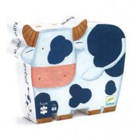 Djeco Djeco Silhouetten-Puzzle Kuh bei Pilzessin